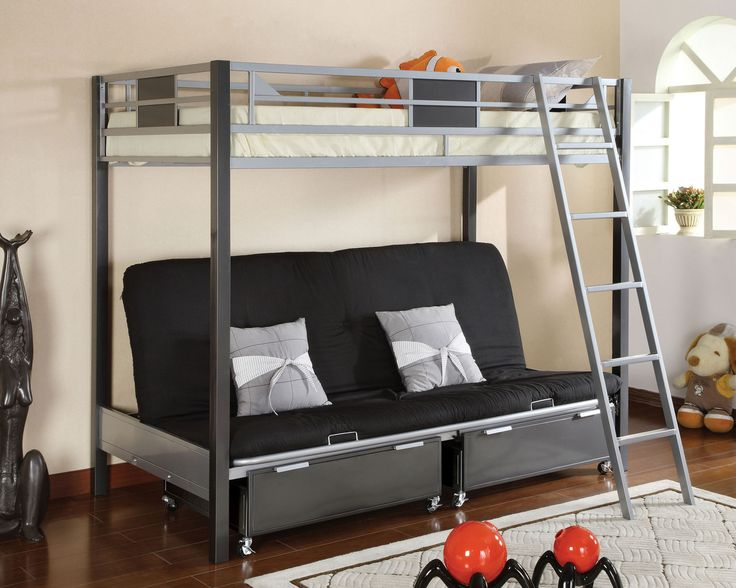 instructions for futon bunk bed assembly wood & metal