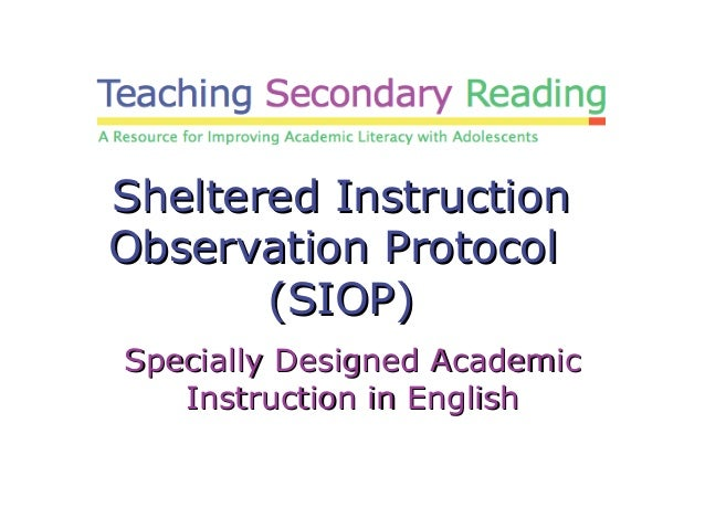 what is sheltered instruction strategies