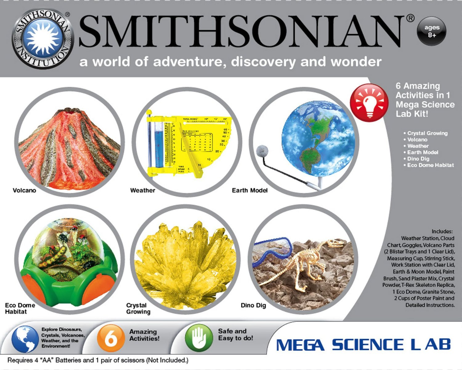 smithsonian crystal growing set instructions