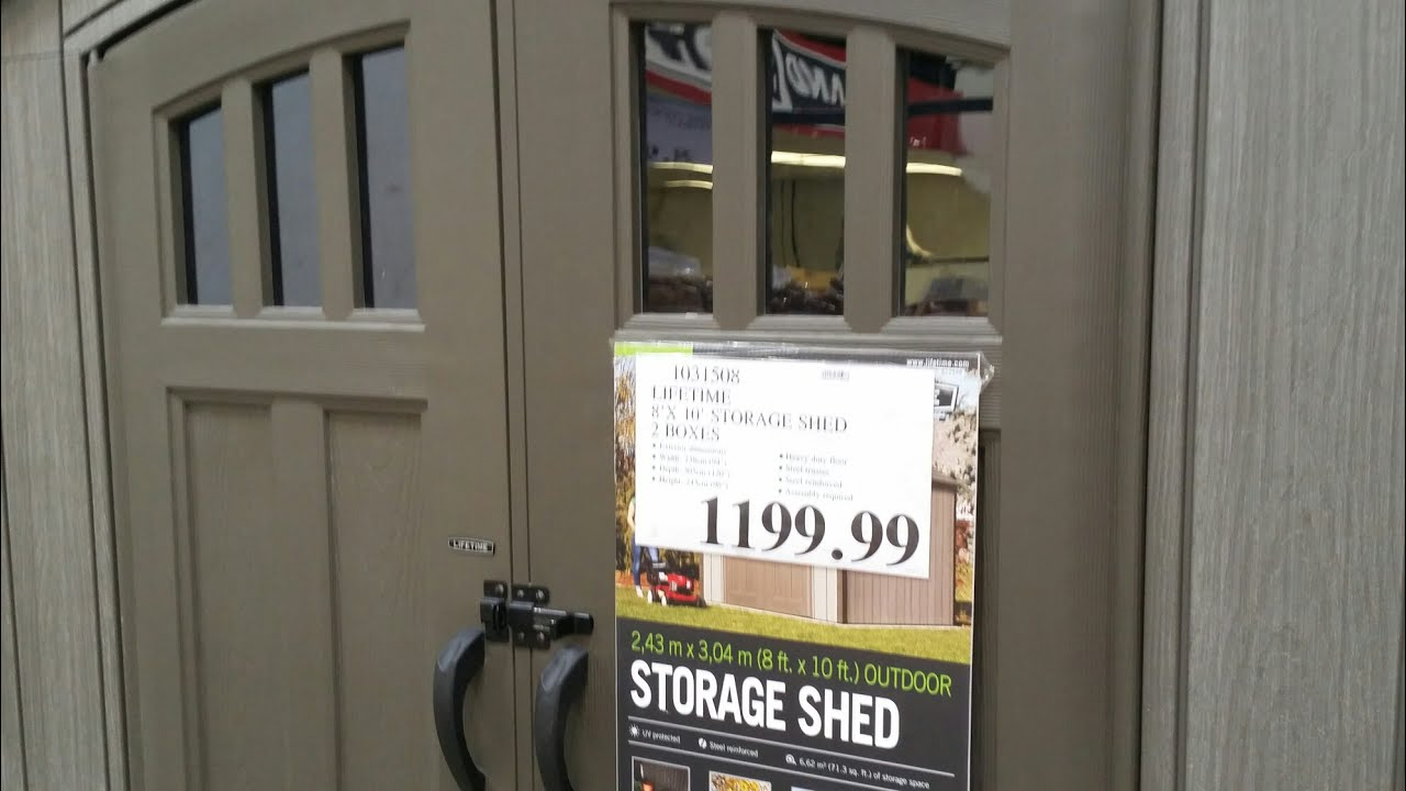 costco lifetime 8x10 shed instructions