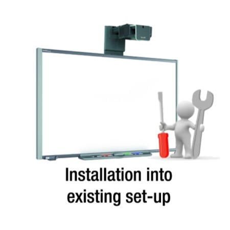 luxor projector stand installation instructions