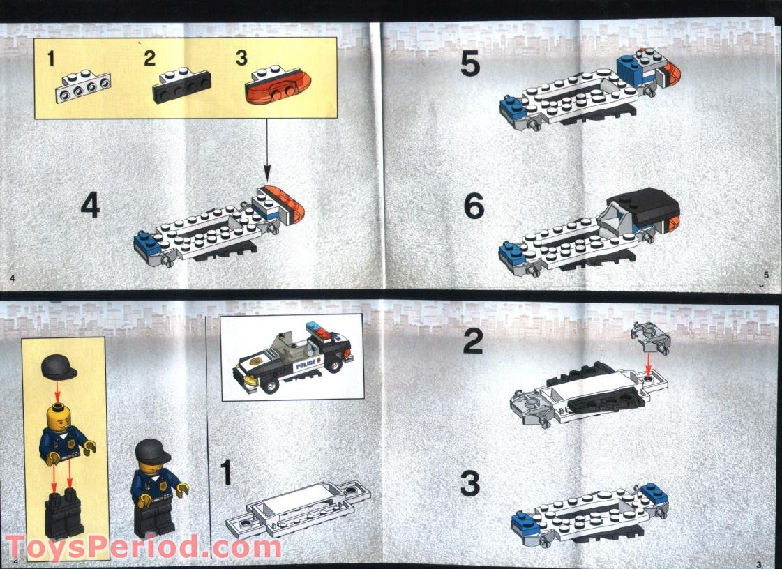lego city police truck 60139 instructions
