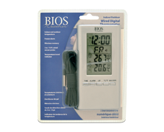 bios wired indoor outdoor thermometer instructions