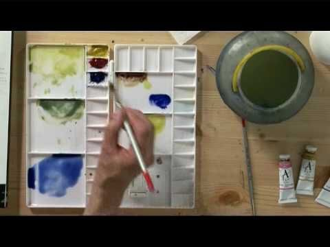 winsor newton watercolor video and instructions