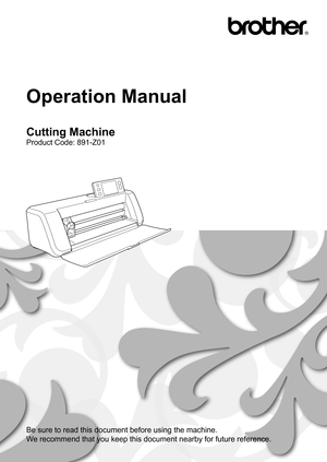 brother scan & cut operation instructions