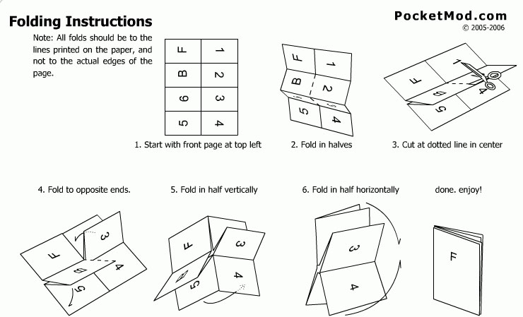 instructions for folding a brochure