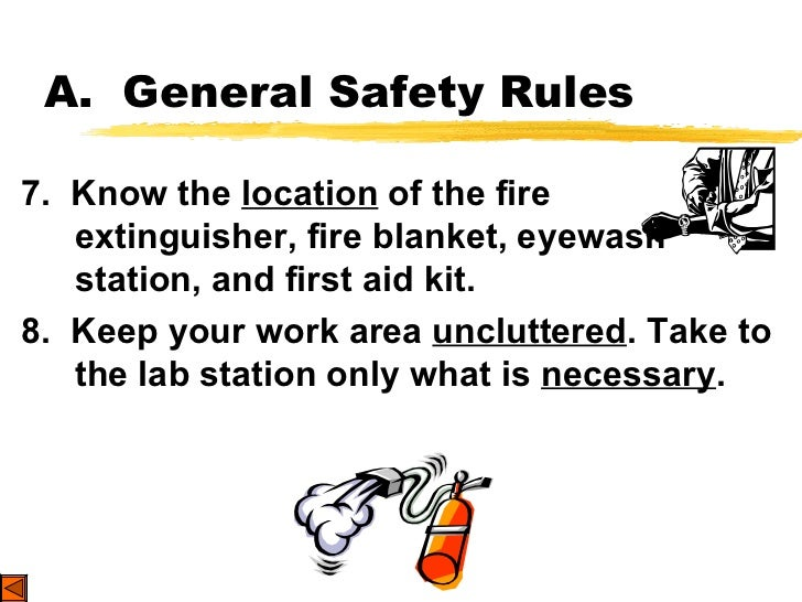 instructions of safety cabinet in the chemistry lab