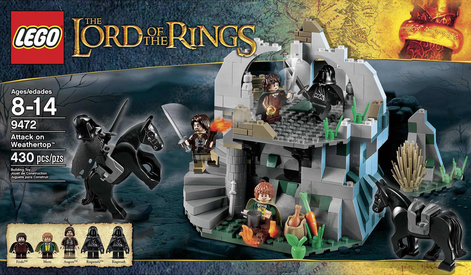 lego lord of the rings weathertop instructions