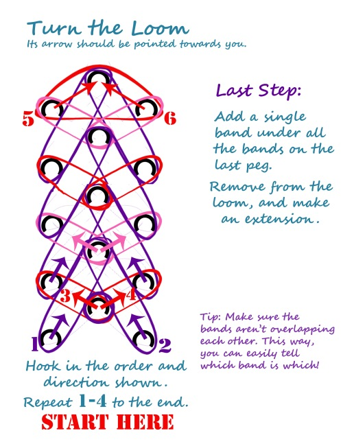 rainbow loom bracelet patterns with instructions