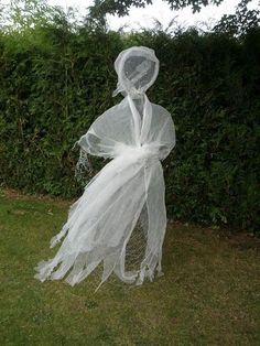 tutorial for chicken wire ghost dress instructions